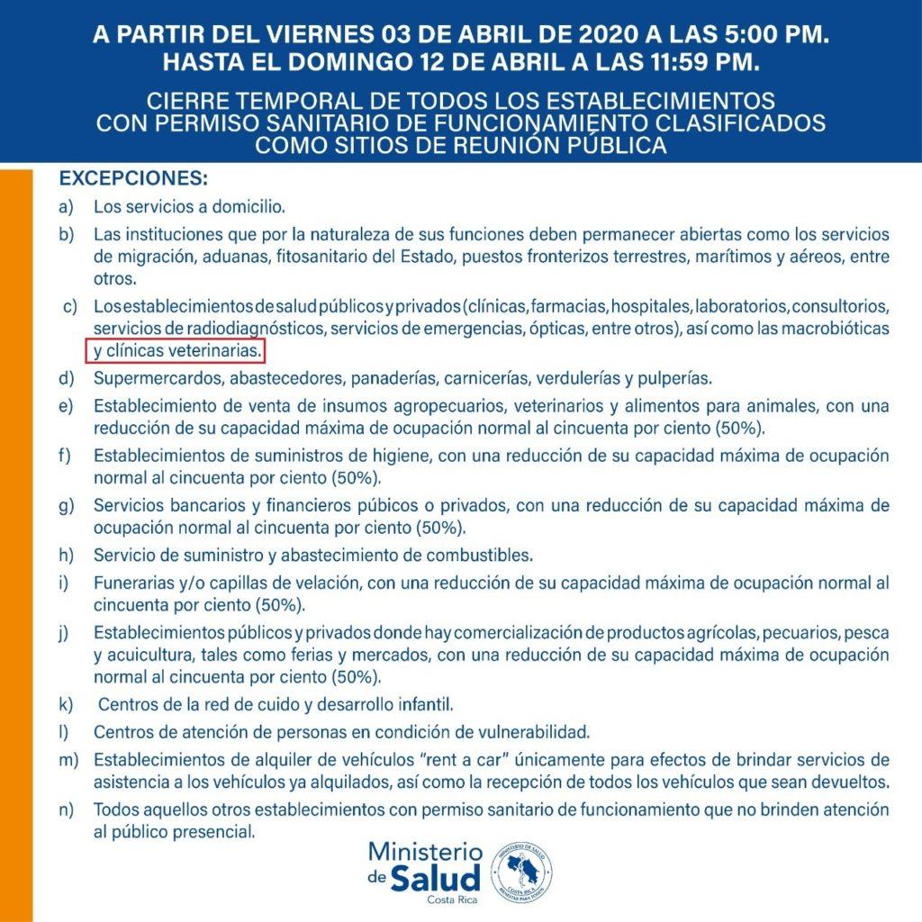Excepciones a Restricciones de Cuarentena